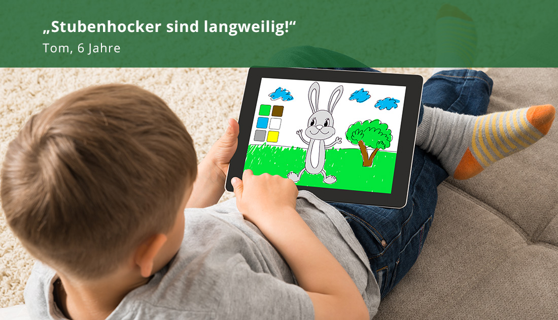 Kind mit Tablet