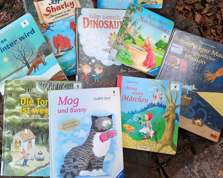 Bücher aus Bücherhalle, Auswahl Bücher