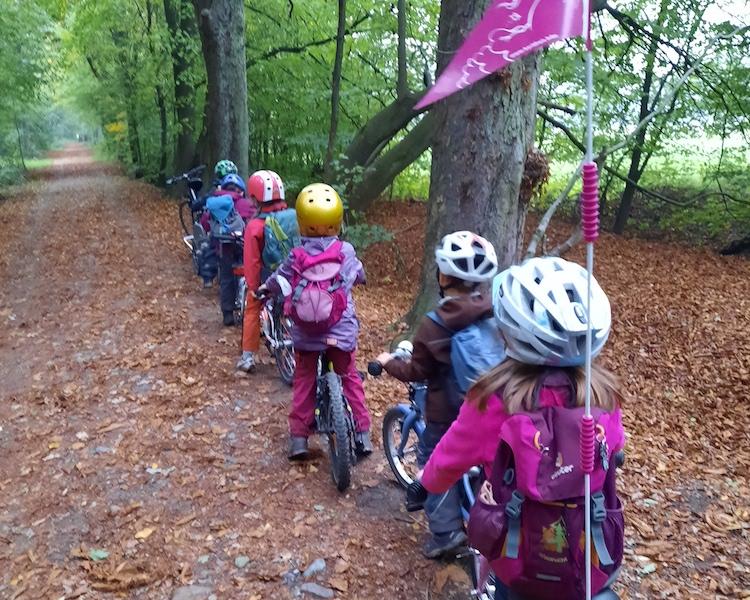 Fahrradtour, Wald, Stausee, Vorschulkinder