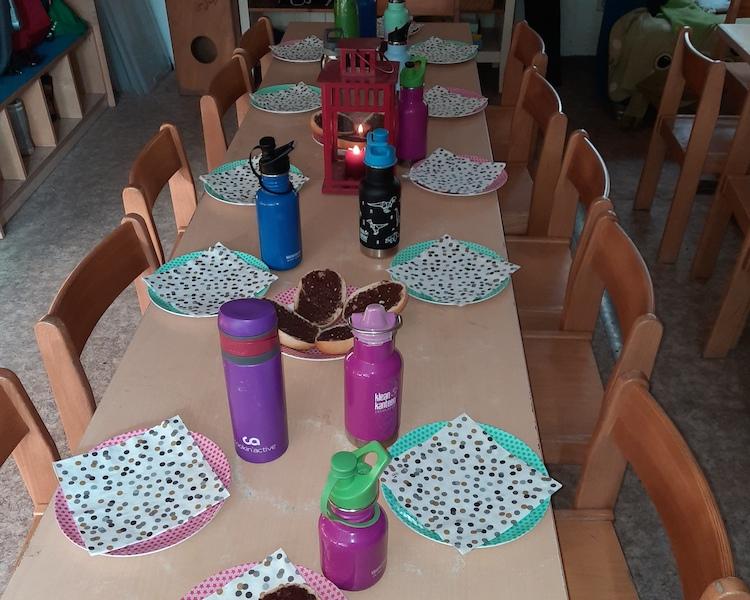Laternenfest, Frühstück, Laterne laufen