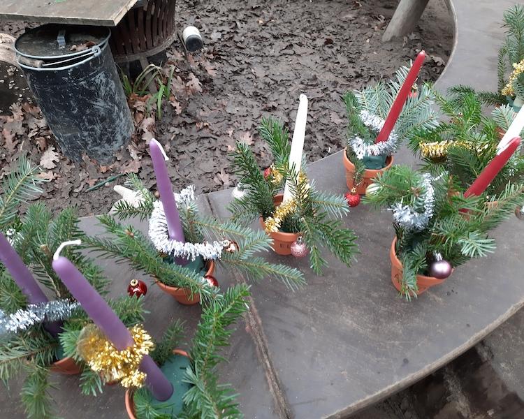 Gestecke basteln, Weihnachtszeit, Advent