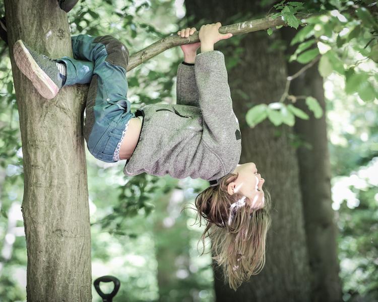 Kind im Baum, Klettern, Konzept