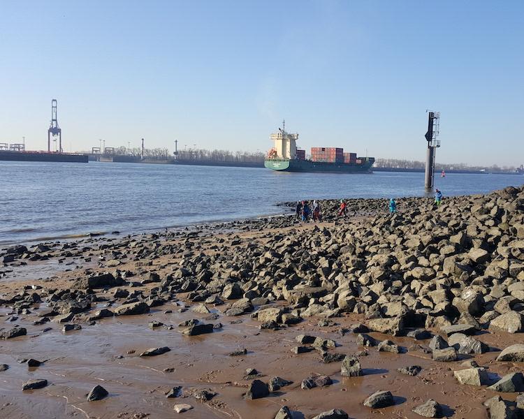 Hamburger Hafen, Schiff, Elbstrand, Ausflug