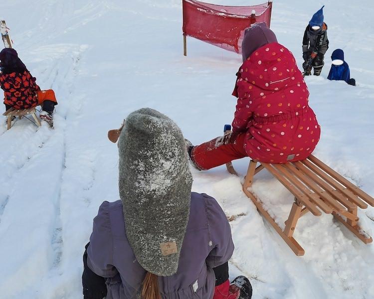 Rodeln, Schnee, Schlitten